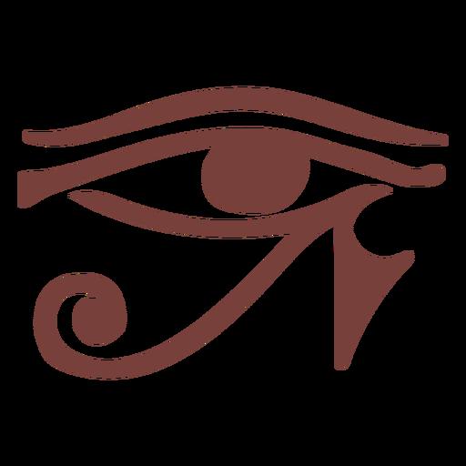 Símbolo egipcio ojo de ra silueta