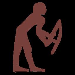 Símbolo egipcio harpócrates silueta