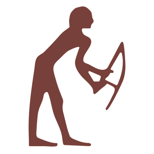 Egyptian symbol harpocrates silhouette Transparent PNG