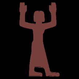 Ägyptisches Symbol ka Silhouette