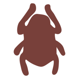 Ägyptische Symbol-Skarabäus-Silhouette