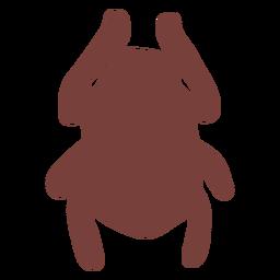 Símbolo egipcio silueta de escarabajo