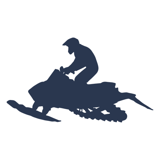 Extreme sports snow mobile left side silhouette