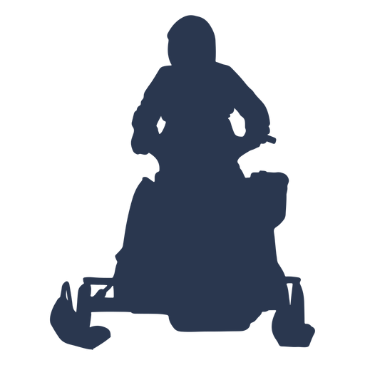 Extreme sports snow mobile silhouette Transparent PNG