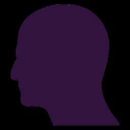 Cara izquierda frente a silueta de hombre calvo