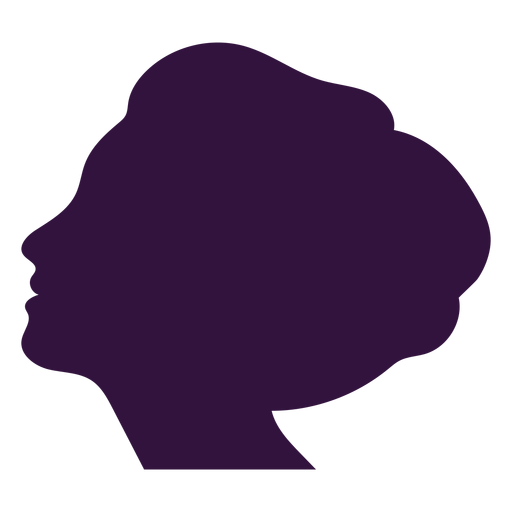 Face left facing lady silhouette