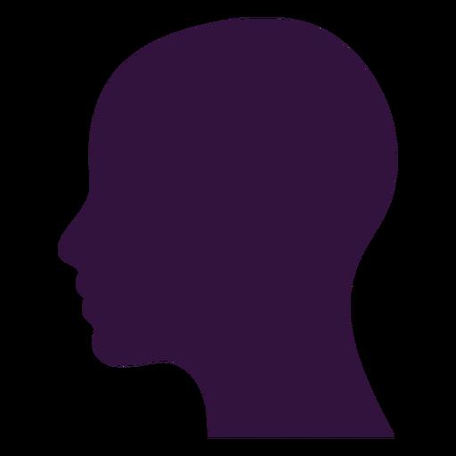 Face left facing lady bald silhouette