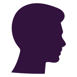 Face right facing boy short chin silhouette