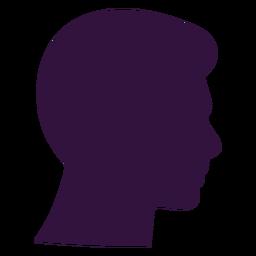 Gesicht rechts gerichteter Junge kurzes Kinn Silhouette