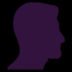 Gesicht rechts gegenüber Mann lange Kinn Silhouette