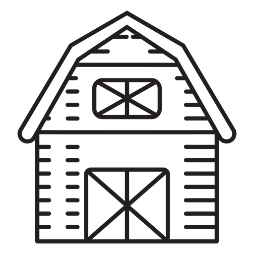 Icono de granero de granja Transparent PNG