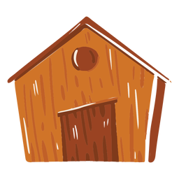 Farm barn brown colored icon