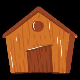 Icono de color marrón granja granero