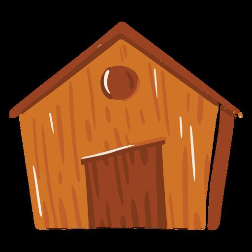 Icono de color marrón de granero de granja