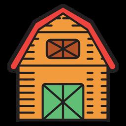 Fazenda celeiro ícone colorido