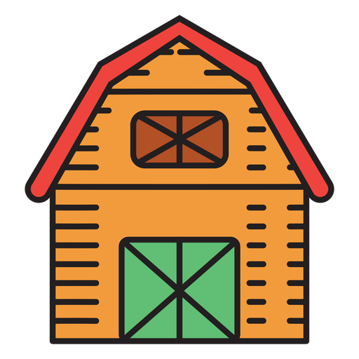 Icono de color de granero de granja
