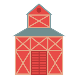 Farm barn red colored icon