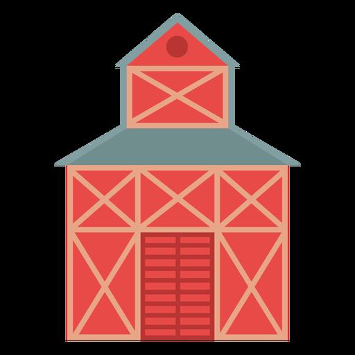Icono de color rojo de granero de granja