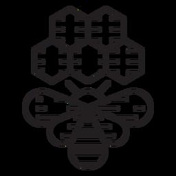 Icono de colmena de abejas de granja