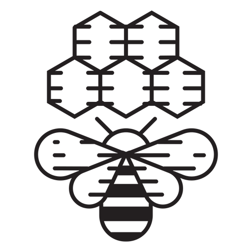 Farm bee beehive icon Transparent PNG