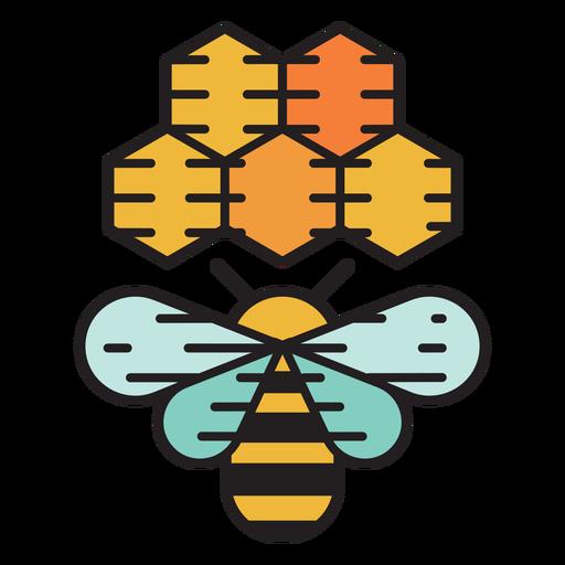 Icono de color de colmena de abejas de granja Transparent PNG