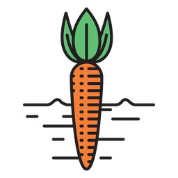 Farm carrot colored icon