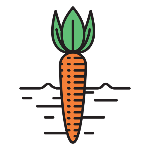 Farm carrot colored icon Transparent PNG