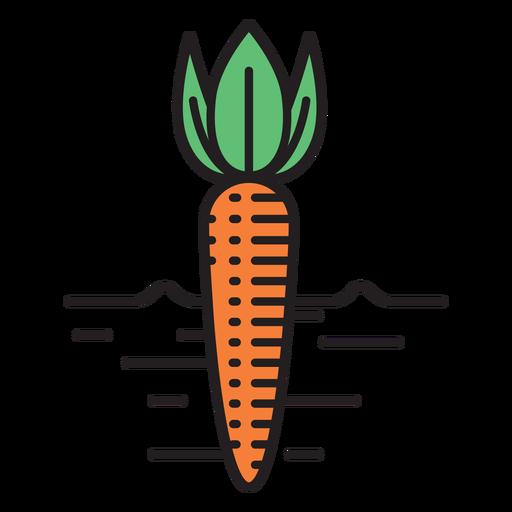 Icono de color de zanahoria de granja Transparent PNG