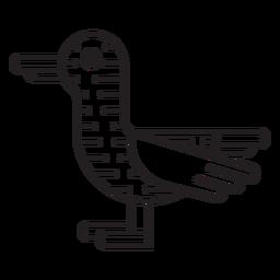 Icono de pato de granja