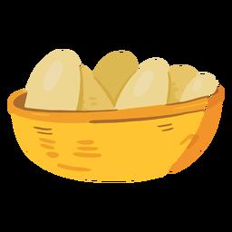 Icono de canasta de huevos de granja