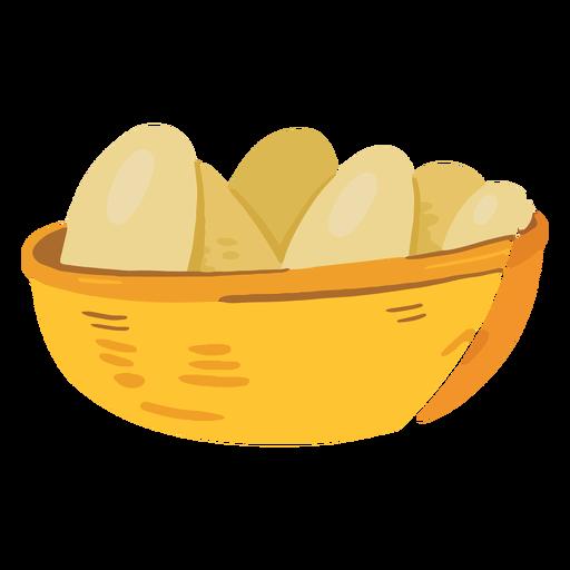 Icono de cesta de huevos de granja