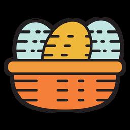 Farm eggs colored icon