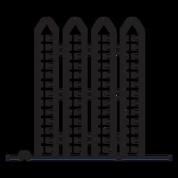 Icono de valla de granja
