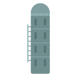 Farm grain silo icon