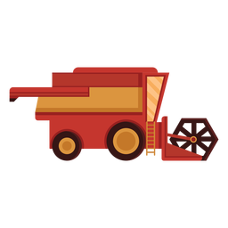Farm harvester red icon