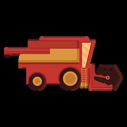 Icono rojo de la cosechadora de granja