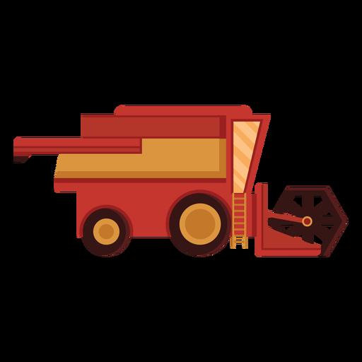 Icono rojo de la cosechadora de granja Transparent PNG