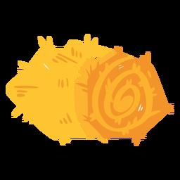 Solo icono de fardos de heno de granja