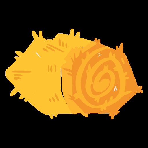 Ícone único de fardo de feno de fazenda Transparent PNG