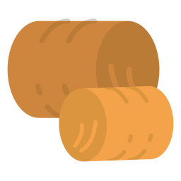 Farm hay bales icon