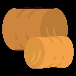 Ícone de fardos de feno de fazenda