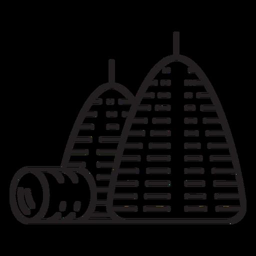 Icono de pila de heno de granja