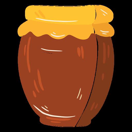 Icono de bote de miel de granja