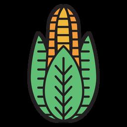 Fazenda ícone colorido de milho