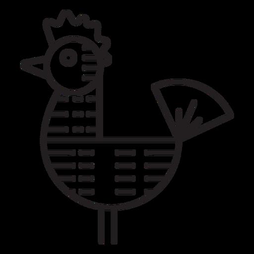 Icono de veleta de gallo de granja