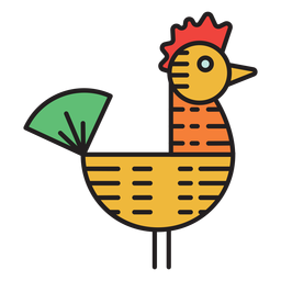 Farm rooster wind vane colored icon