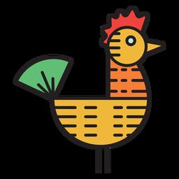 Fazenda galo cata-vento ícone colorido