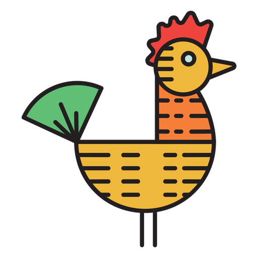 Icono de color de veleta de gallo de granja Transparent PNG