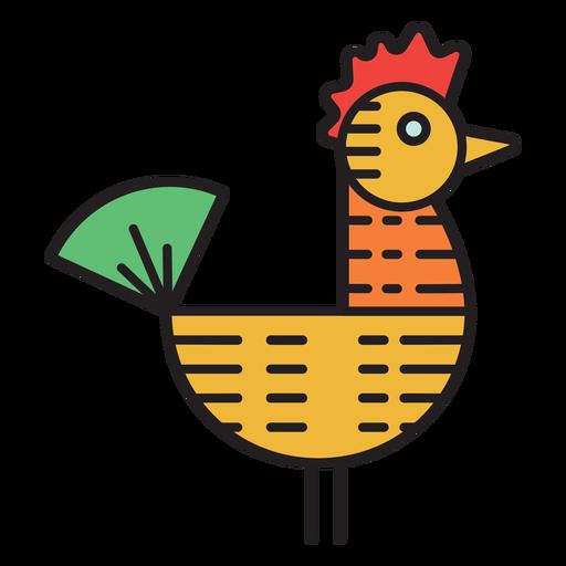 Icono de color de veleta de gallo de granja