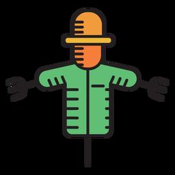 Icono de color de espantapájaros de granja